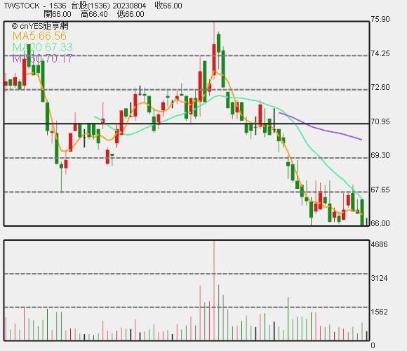 和大股價日 K 線圖。